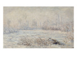 Le givre, prde Veuil Giclee Print by Claude Monet