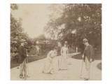 Quatre joueurs de croquet, à Sèvres Gicléetryck av Alexandre-Gustave Eiffel