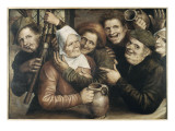 Joyeuse companie Reproduction proc&#233;d&#233; gicl&#233;e par Jan Massys