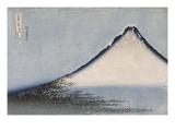 Le Fuji bleu Gicléedruk van Katsushika Hokusai
