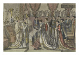 Exchange of Vows Between Napoleon and Marie-Louise Giclee Print