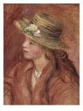 Fillette au chapeau de paille Giclee Print by Pierre-Auguste Renoir