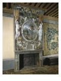 Fireplace Painted the House of Anne De Montmorency Giclee Print