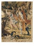 Tenture de l'Ancien Testament : Le sacrifice d'Abraham Lámina giclée por Simon Vouet