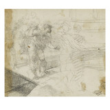 Figures marchant sur une passerelle Giclee Print by Domenico Beccafumi