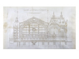 Gare d'Orsay (Paris) : coupe transversale Giclee Print by Victor Laloux