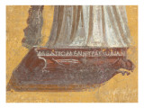 Fragment of Wall Painting: Melpomene, Muse of Tragedy Reproduction procédé giclée