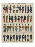French Army, General Staff of the Army of the Orient Giclee Print