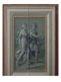 "Gray Bottom Panels the Salon Louis Xiii: ""A Couple"" Giclee Print by Ambroise Dubois"