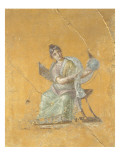 Fragment of Wall Painting: Urania, Muse of Astronomy Reproduction procédé giclée