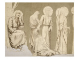 Friesland for the Decoration of the Pantheon Saints Giclee Print by Pierre Puvis de Chavannes