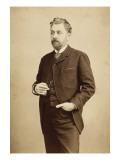 Gustave Eiffel, debout, coupé au milieu des genoux, lorgnons à la main Giclée-Druck von Bosch E. Van