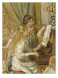 Au piano Reproduction proc&#233;d&#233; gicl&#233;e par Pierre-Auguste Renoir