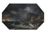 Les Quatre parties du jour : le midi ou la tempête Giclée-Druck von Claude-Joseph Vernet