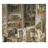 Galerie de vues de la Rome Antique Impression giclée par Giovanni Paolo Pannini