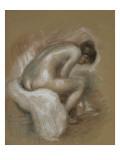 Nu féminin assis, s'essuyant le pied gauche Giclee Print by Pierre-Auguste Renoir