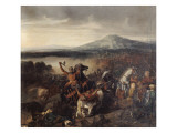 Combat de Ceramo en Sicile, 1061, victoire de Roger Ier de Sicile sur 35.000 Sarrasins Giclee Print by Prosper Lafaye