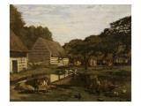Cour de ferme en Normandie Giclee Print by Claude Monet