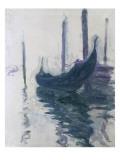 Gondoles à Venise Giclee Print by Claude Monet