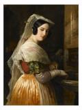 Jeune fille d'Albano Giclee Print by Federico de Madrazo y Kuntz
