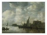 Fischerboote Giclée-Druck von Jan Van Goyen