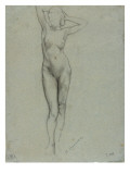 Figure of a Naked Woman Standing, Hands Behind Head Giclee Print by Henri Gervex