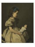 Fillette à la poupée Giclee Print by Ferdinand Roybet