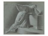 jeune fille agenouillée, étude de femme drapée Giclee Print by Benjamin Robert Haydon