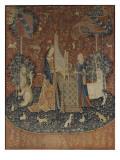 Tenture de la Dame à la Licorne : l'Ouie Giclee Print