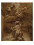 La promesse de Dieu à Abraham Lámina giclée por Raffaello Sanzio