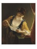 Jeune fille lisant une lettre Giclee Print by Jean Raoux