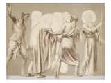 Friesland for the Decoration of the Pantheon: Saints Giclee Print by Pierre Puvis de Chavannes