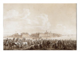French Troops at Rest, before the City Custrin 1806 Giclee Print