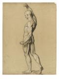 Ecorché debout, de profil, le bras droit levé Giclee Print by Denis Auguste Marie Raffet