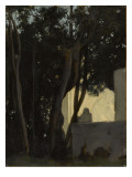 Fountain in the Laurels. Rome, Villa Medici Gardens Giclee Print by Jean Jacques Henner