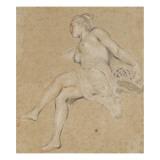 Flore Giclée-tryk af Jean Antoine Watteau