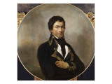François Miranda, général de division à l'armée du Nord en 1792 (1756-1816) Giclee Print by Georges Rouget