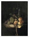 Raisins et pêches Giclée-Druck von Willem Van Aelst