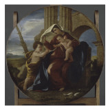 Sainte Famille Reproduction proc&#233;d&#233; gicl&#233;e par Nicolas Poussin