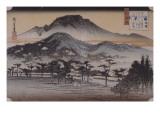Cloches du soir au temple de Miidera Giclee Print by Ando Hiroshige