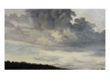 A Rome : étude de ciel chargé de Nuages Giclée-Druck von Pierre Henri de Valenciennes