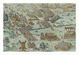 Battle of Dreux, the First Load (December 19, 1562) Giclee Print by Frans Hogenberg