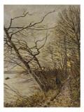 Le Bois de Roches, Veneux-Nadon Reproduction procédé giclée par Alfred Sisley