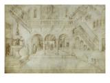 Architecture ; Jugement de Salomon Giclee Print by Jacopo Bellini