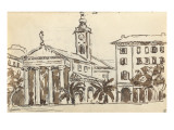Carnet : Vue de Nice Giclee Print by Paul Signac