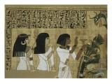 Livre des morts, papyrus de Nebqed Lámina giclée
