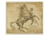 Cheval tenu à la bride, en se cabrant Giclee Print by Antoine Charles Horace Vernet