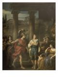 Hector détermine Pâris à prendre les armes Giclée-Druck von Joseph Marie Vien