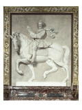 Bas-relief d&#39;Henri IV &#224; cheval de la Belle Chemin&#233;e Reproduction proc&#233;d&#233; gicl&#233;e par Mathieu Jacquet