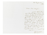 Autograph Letter Signed to Berryer, January 3, 1860 Giclee Print by Eugene Delacroix